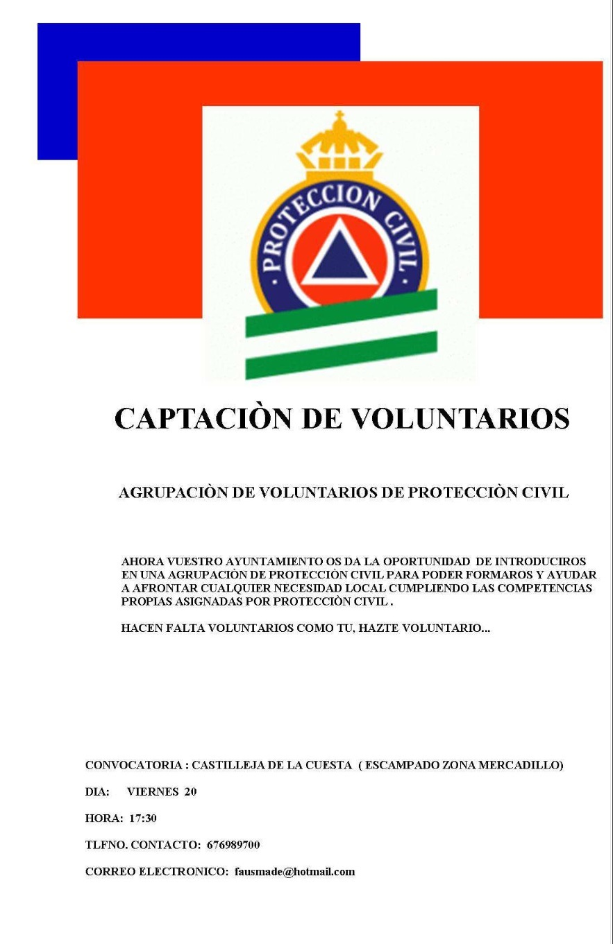 cartel proteccion civil